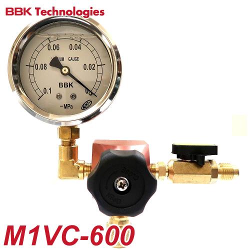 BBK 真空ゲージセット(アナログ式) M1VC-600 グリセリン入り真空ゲージ