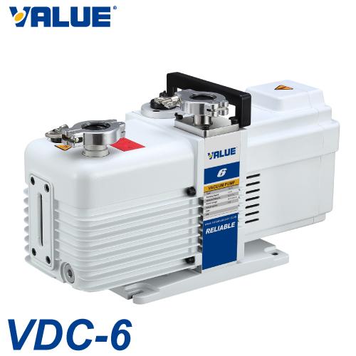 VALUE 油回転真空ポンプ 2段排気方式 VDC-6 単相100V 排気速度:1.6L/s