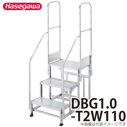 長谷川工業 ハセガワ 専用手摺 DBG1.0-T2W110 高さ:1100mm 重量:5.0kg 両側手摺