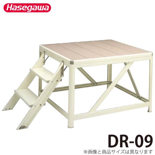 長谷川工業 ハセガワ 朝礼台 DR-09 踊場奥行:73cm 最大使用質量:450kg