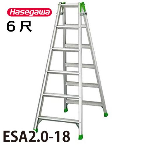 長谷川工業 ハセガワ はしご兼用脚立 ESA2.0-18 天板高さ:1.70m 最大使用質量:100kg