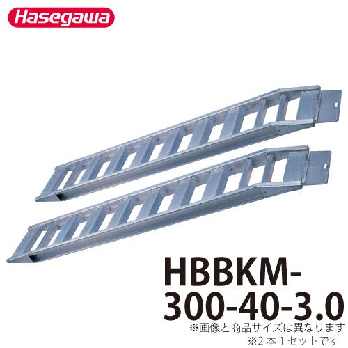 長谷川工業 ハセガワ アルミブリッジ HBBKM-300-40-2.2 全長:3.00m 重量:37kg/本 鉄クローラ・ゴムクローラ兼用