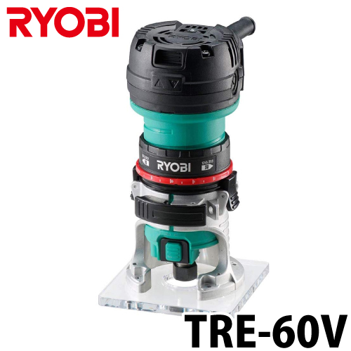 リョービ/RYOBI 電子トリマ 単相100V 取付ビット軸軽:6mm TRE-60V