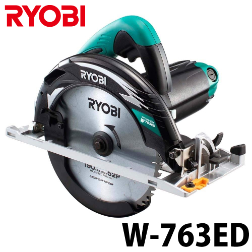 リョービ/RYOBI 電子丸ノコ W-763ED 深切りタイプ LEDライト付 最大切込深さ76mm