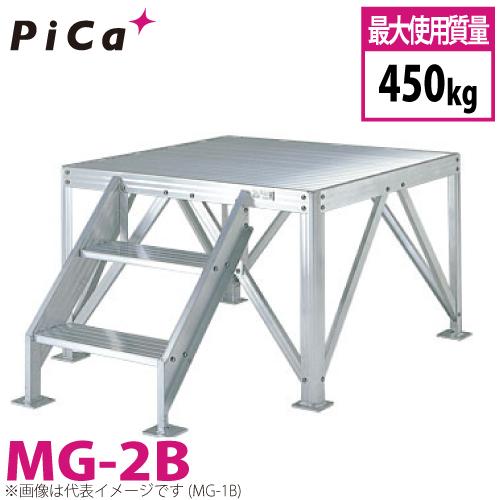 ピカ/Pica 朝礼台 MG-2B 最大使用質量:450kg 天場高さ:0.8m