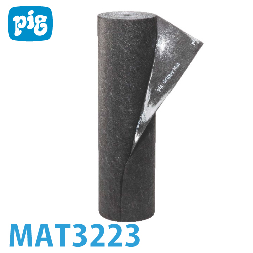 ピグ グリッピー トラフィックマット MAT3223 重量:約10.9kg/袋 油・液体用吸収材