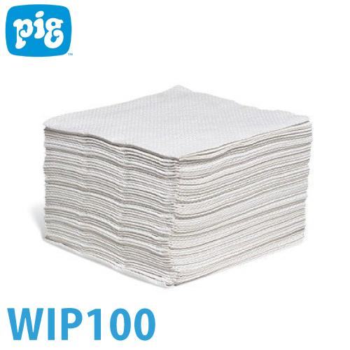 ピグ バリューワイパー 18パック/900枚入 WIP100 油・液体用吸収材 両面タイプ リサイクル紙使用