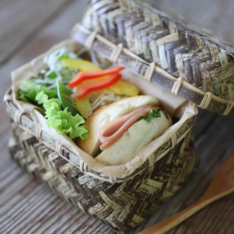 小さめサイズがかわいいスリムなミニランチボックス 毎日がバーゲンセール メーカー公式 虎竹網代ミニ弁当箱