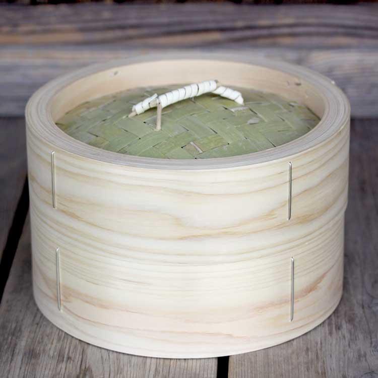 業務用にも最適な国産ヒノキ材の蒸篭です 【国産】檜中華蒸籠(せいろ)蒸し料理が美味しくできる日本製蒸し器24cm身蓋セット