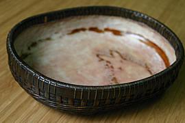 【一点限り】塩月寿籃作 黒竹菓子器 うさぎ