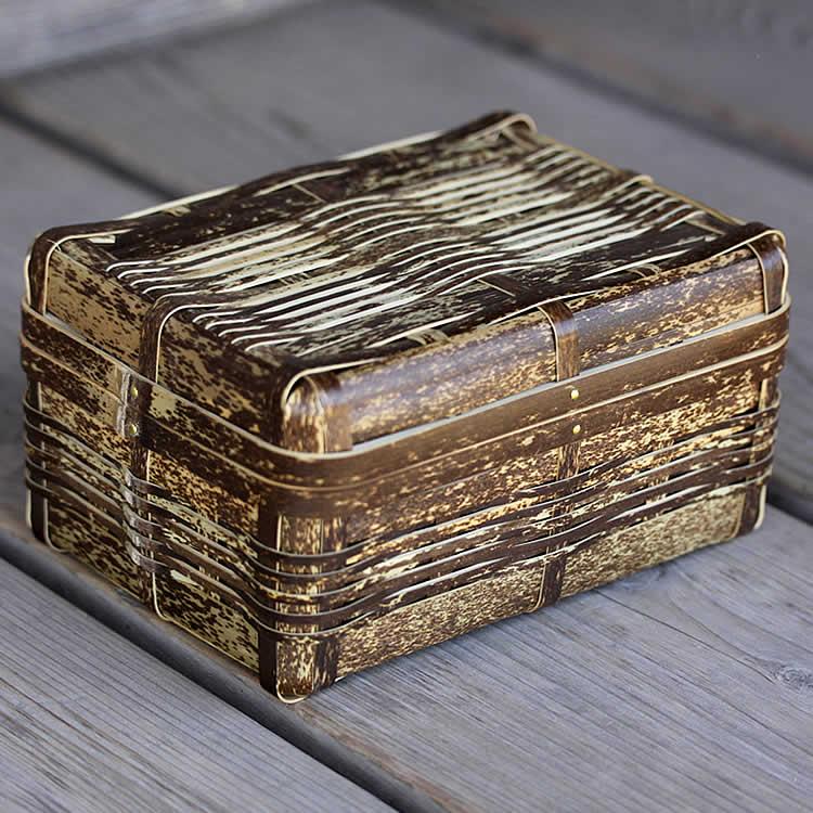 毎日ピクニック気分 国産 お得 日本製 竹のランチボックス お弁当やピクニックがさらに楽しくなる虎竹ランチボックス 大 お弁当箱 竹べんとう箱 和風 行楽 1段 ☆新作入荷☆新品