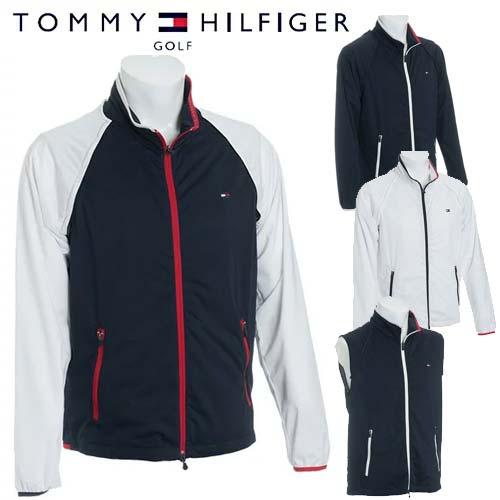 30%オフ トミーヒルフィガー ゴルフ 2WAY ウィンド ジャケット メンズ 撥水 ストレッチ 長袖 TOMMY HILFIGER GOLF 【THMA801】【あす楽対応】【18SS】