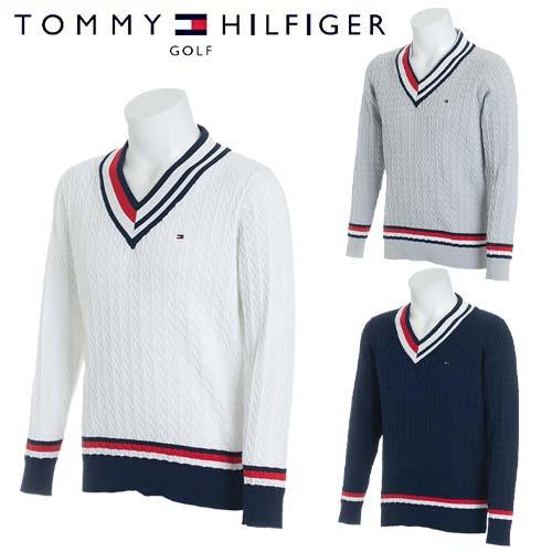 【30%オフ!】 トミーヒルフィガー ゴルフ Vネック セーター メンズ 長袖 TOMMY HILFIGER GOLF 【THMA806】【あす楽対応】【18SS】
