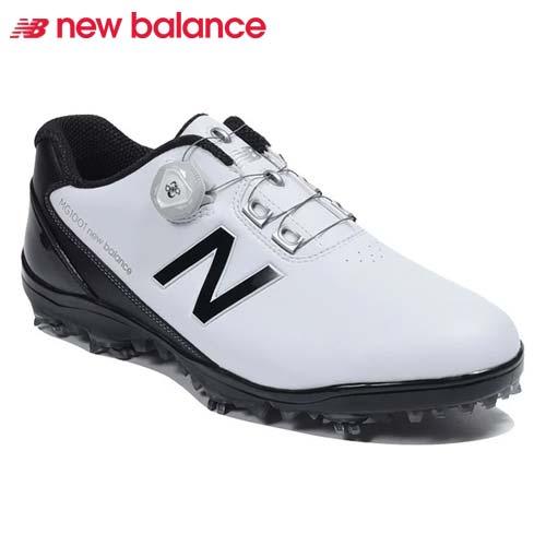 【キャッシュレス5%還元】 ニューバランス ゴルフシューズ ボア クロージャーシステム スパイク メンズ New Balance golf boa 【MG1001WB】