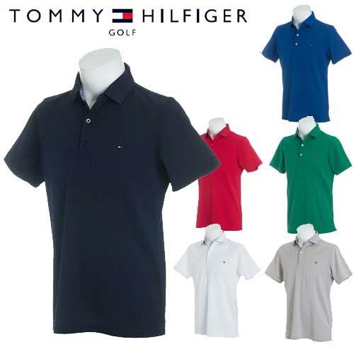 トミーヒルフィガー ゴルフ ポロ シャツ ベーシック フラッグ メンズ 半袖 TOMMY HILFIGER GOLF 【THMA818】【あす楽対応】【18SS】
