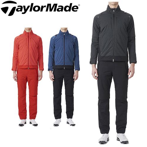 【キャッシュレス5%還元】 テーラーメイド ゴルフ レインスーツ メンズ レインウェア 上下セット TaylorMade 【KL927】