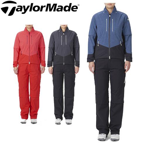 テーラーメイド ゴルフ レインスーツ レディース レインウェア 上下セット TaylorMade 【KL960】【あす楽対応】