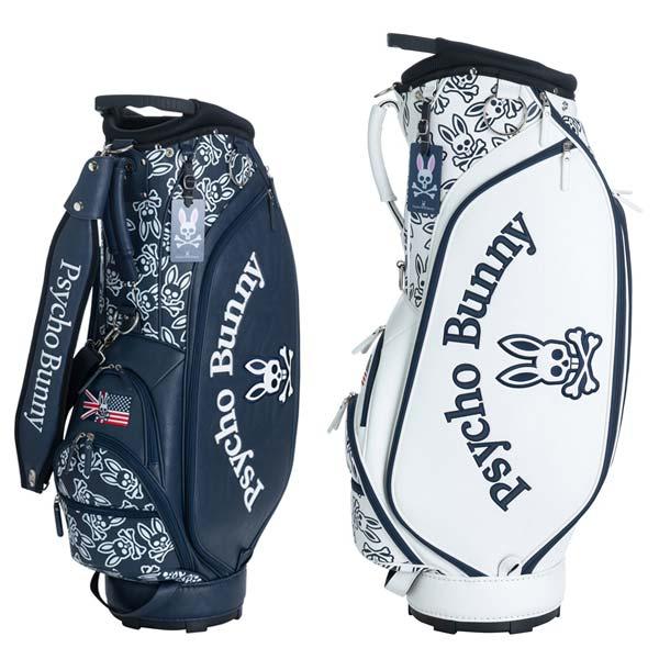 【キャッシュレス5%還元】 サイコバニー ゴルフ キャディバッグ 9.0型 3.8kg 5分割 PBMG0SC7 PSYCHO BUNNY