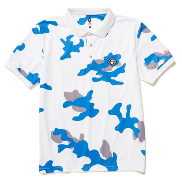 【キャッシュレス5%還元】 V12 ゴルフ 半袖 ポロシャツ ライトカモ柄 ロゴ V122010-CT08 メンズ