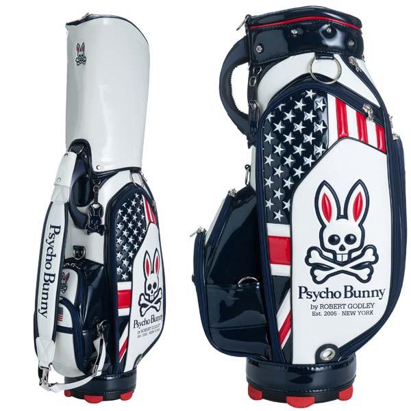 【月間優良ショップ受賞】 サイコバニー ゴルフ メンズ キャディバッグ 9.0型 4.9kg 5分割 PBMG0SC1 PSYCHO BUNNY