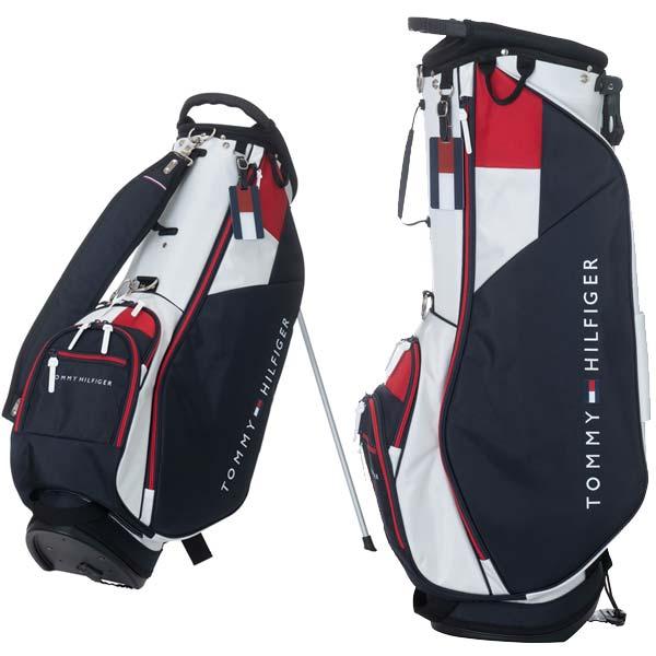 【キャッシュレス5%還元】 トミーヒルフィガー ゴルフ 軽量 スタンドバッグ 9.0型 2.6kg 5分割 THMG0SCA TOMMY HILFIGER