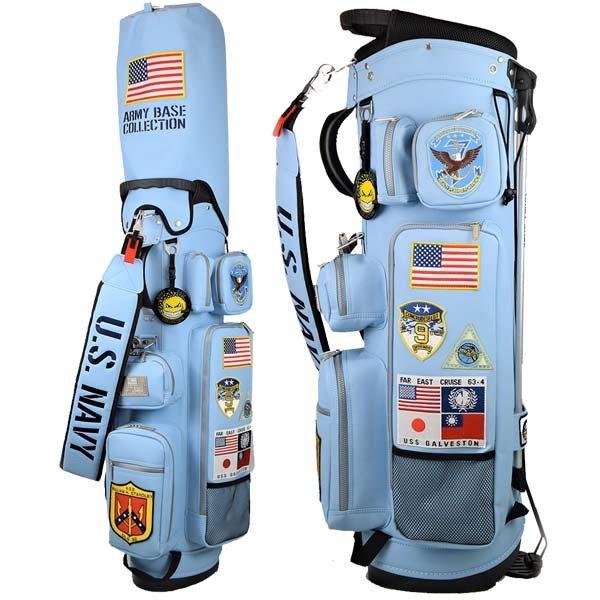 【キャッシュレス5%還元】 アーミーベースコレクション ゴルフ メンズ スタンドバッグ 9型 5分割 ABC035SB ARMY BASE COLLECTION