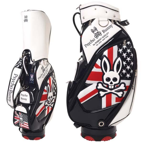 サイコバニー ゴルフ キャディバッグ カートバッグ 9型 4.5kg 46インチ対応 PBMG9SC2 PSYCHO BUNNY 【あす楽対応】
