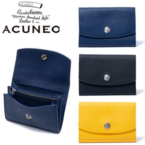 ANMW7AS5 二つ折り かぶせ型 ACUNEO 牛革 アクネオ 財布