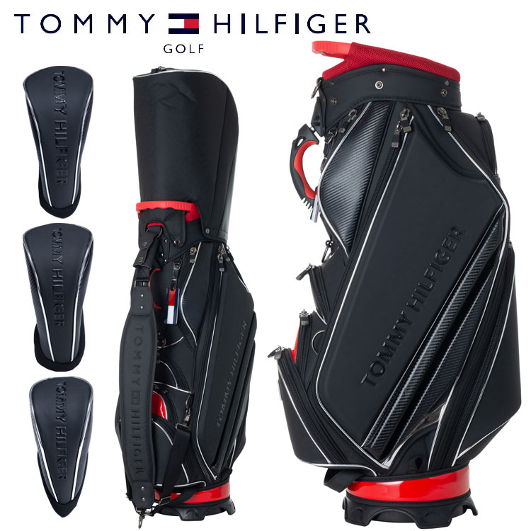 【キャッシュレス5%還元】 トミーヒルフィガー ゴルフ メンズ キャディバッグ ヘッドカバー3点付属 9型 4.8kg 5分割 カートバッグ THMG9FC1 TOMMY HILFIGER