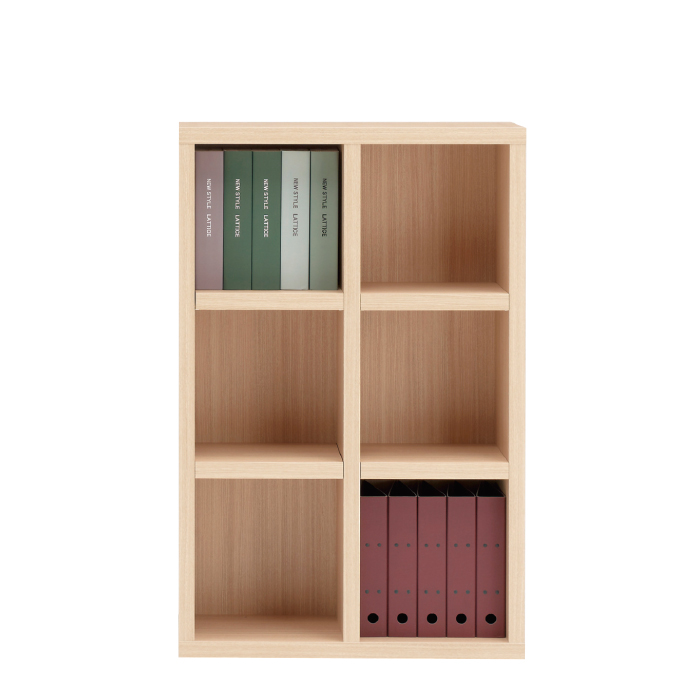 【お取り寄せ】フナモコ オープン書棚 FHA-75L エリーゼアッシュ ニューラチス ロータイプ ブックボード 書斎