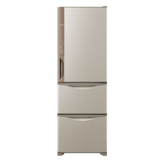 クレーン搬入費半額セール アウトレット 東京23区近郊限定配送 日立 375L 右開き 3ドア 冷蔵庫 R-K38JV-T ライトブラウン HITACHI RK38JV 自動製氷