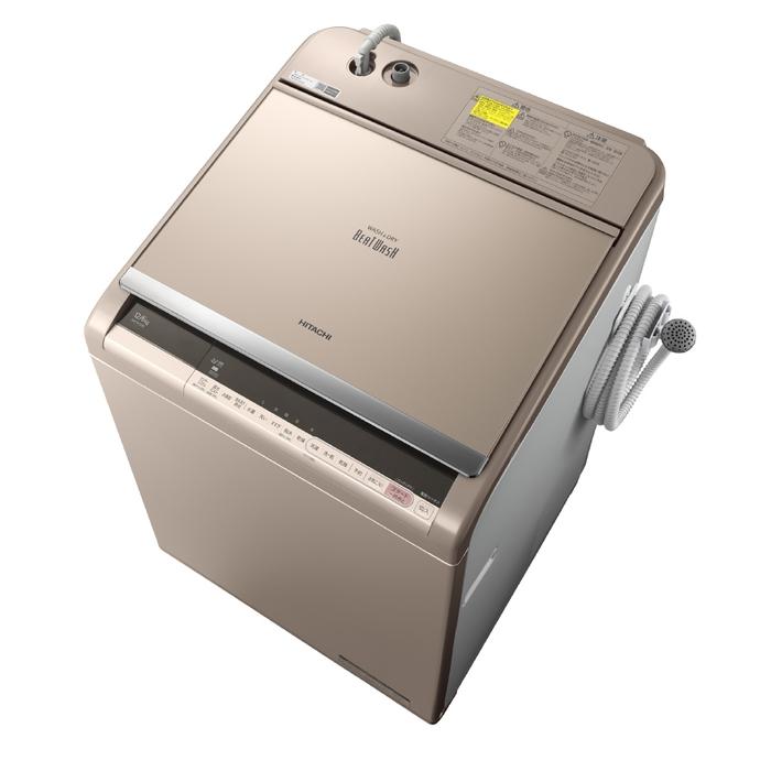 アウトレット 基本設置無料 東京23区近郊限定配送 日立 12kg 縦型洗濯乾燥機 BW-DV120C-N シャンパン HITACHI BWDV120C