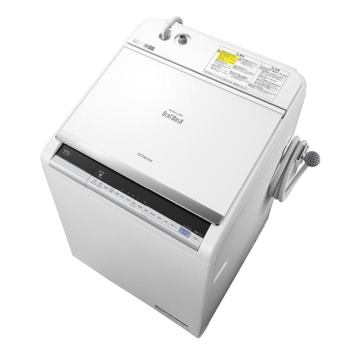 アウトレット 基本設置無料 東京23区近郊限定配送 日立 12kg 縦型洗濯乾燥機 BW-DV120C-W ホワイト HITACHI BWDV120C|縦型 ビートウォッシュ 12キロ