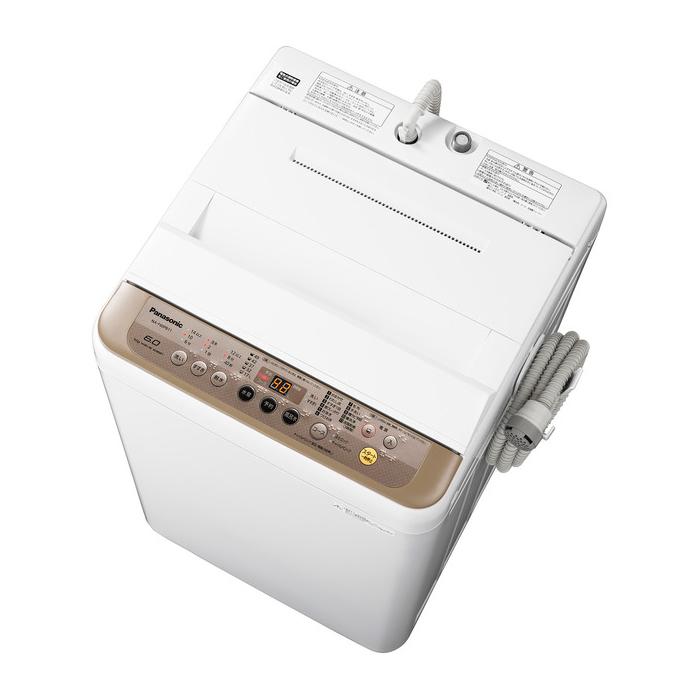 【基本設置無料】 パナソニック 6kg 全自動洗濯機 NA-F60PB11-T ブラウン 東京23区近郊限定配送 【Panasonic NAF60PB11】|一人暮らし 小型 6キロ パスポンプ内蔵タイプ