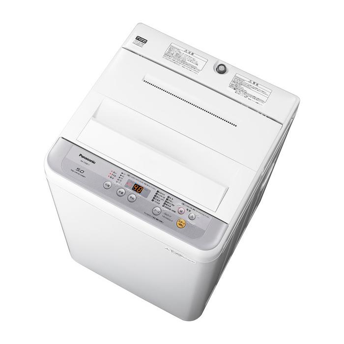 【基本設置無料】 パナソニック 5kg 全自動洗濯機 NA-F50B11-S シルバー 東京23区近郊限定配送 【Panasonic NAF50B11】|一人暮らし 小型 5キロ