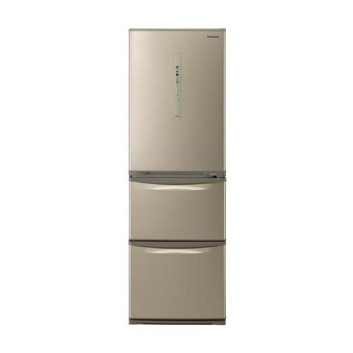 クレーン搬入費半額セール 東京23区近郊限定配送 パナソニック 365L 右開き 3ドア 冷蔵庫 NR-C37HC-N シルキーゴールド Panasonic NRC37HC|野菜室が真ん中 自動製氷 二人暮らし