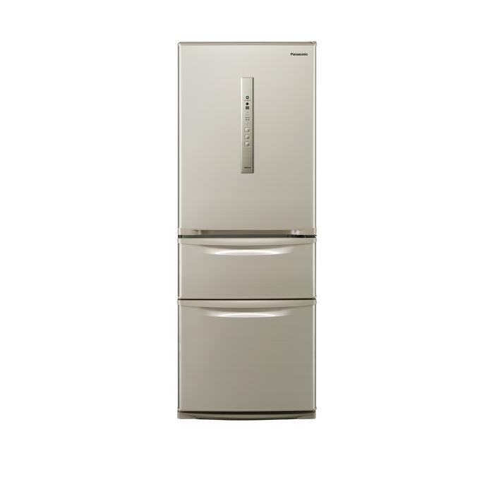 クレーン搬入費半額セール 東京23区近郊限定配送 パナソニック 315L 右開き 3ドア 冷蔵庫 NR-C32HM-N シルキーゴールド Panasonic NRC32HM|日本製 野菜室が真ん中 自動製氷 二人暮らし