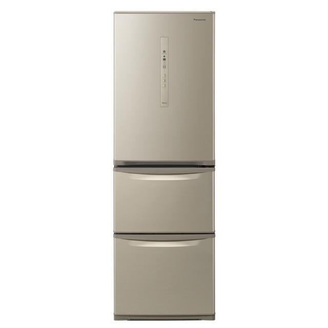 基本設置無料 東京23区近郊限定配送 パナソニック 365L 右開き 3ドア 冷蔵庫 NR-C370C-N シルキーゴールド Panasonic NRC370C 中型 二人暮らし 2人暮らし 幅60cm以下 自動製氷 省エネ