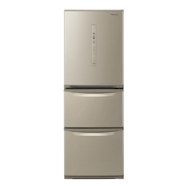 基本設置無料 東京23区近郊限定配送 パナソニック 335L 右開き 3ドア 冷蔵庫 NR-C340C-N シルキーゴールド Panasonic NRC340C|中型 二人暮らし 2人暮らし 幅60cm以下 自動製氷 省エネ
