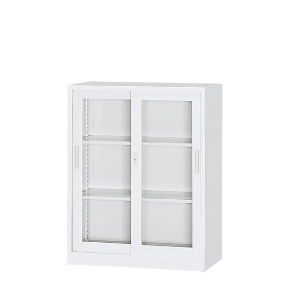 東洋事務器工業 A4対応ガラス戸書庫 3G-112-WH