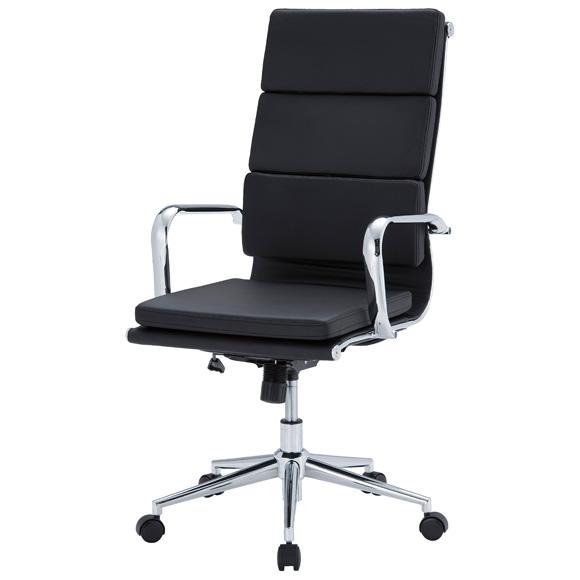 東京23区近郊限定配送 井上金庫販売 ハイバックチェア APS-H04クッション付きタイプ|オフィスチェア デスクチェア 合成皮革 パソコンチェア 事務椅子 肘付き 高さ調整機能 肘掛け 学習椅子 学習チェア