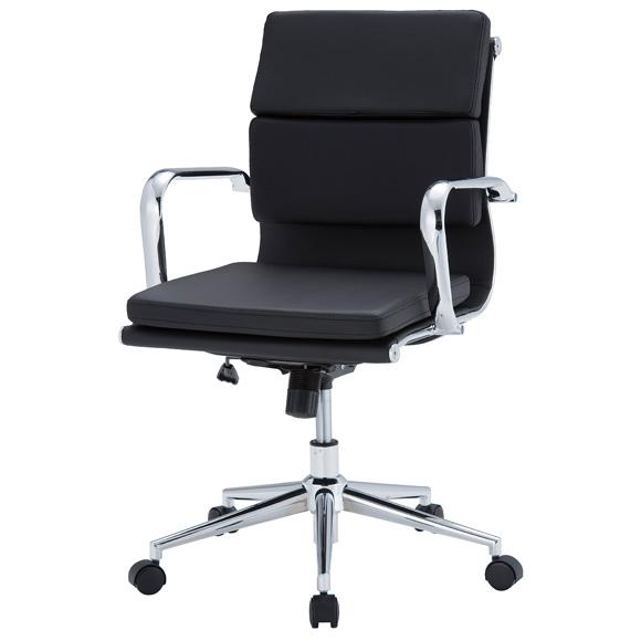 東京23区近郊限定配送 井上金庫販売 ローバックチェア APS-L03クッション付きタイプ|オフィスチェア デスクチェア 合成皮革 パソコンチェア 事務椅子 肘付き 高さ調整機能 肘掛け 学習椅子 学習チェア