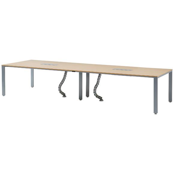 【法人様限定/直送便】 井上金庫販売 ミーティング テーブル UTS-S3612 NA 幅3600 奥行1200 高さ700 mm