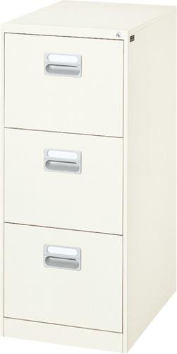 ダイシン工業 A4サイズ3段ファイリングキャビネット A4-3N 幅387×奥行620×高さ1015mm