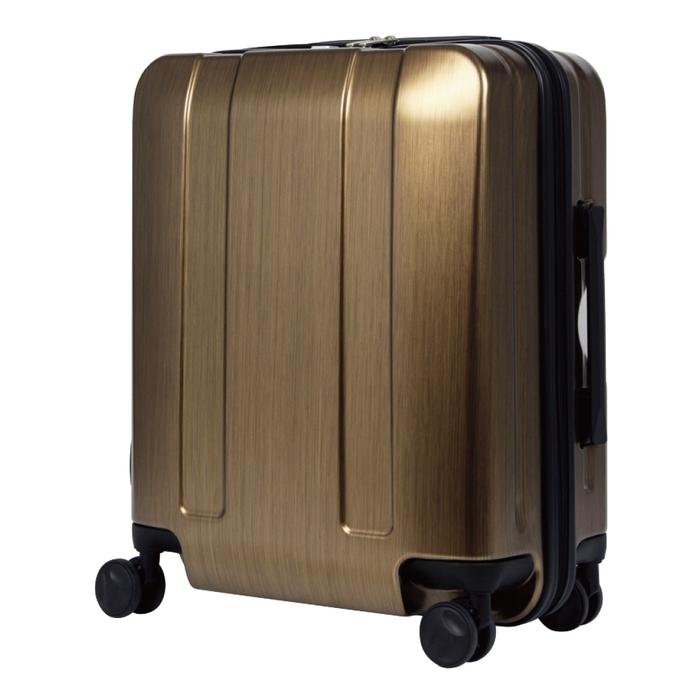 【直送便】【送料無料!】LEGEND WALKER 5087-48 40L メタリックゴールド|レジェンドウォーカー スーツケース 旅行 かわいい 軽量 機内持ち込み サイズ 1泊-3泊