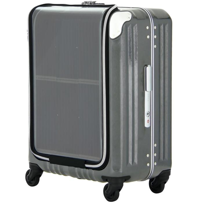 【直送便】【送料無料!】LEGEND WALKER PREMIUM TRAVEL SOLAR 6706-47 40L ガンメタリック|レジェンドウォーカー スーツケース 旅行 かわいい 軽量 機内持ち込み サイズ 1泊-3泊