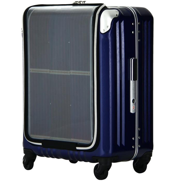 【直送便】【送料無料!】LEGEND WALKER PREMIUM TRAVEL SOLAR 6706-47 40L ネイビー|レジェンドウォーカー スーツケース 旅行 かわいい 軽量 機内持ち込み サイズ 1泊-3泊