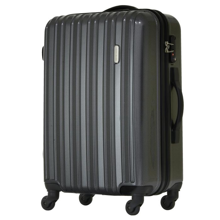 【直送便】【送料無料!】LEGEND WALKER 5096-58 58L カーボン|レジェンドウォーカー スーツケース 旅行 かわいい 軽量 機内持ち込み サイズ 3泊-5泊