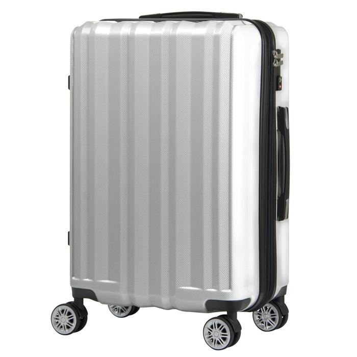 【直送便】【送料無料!】LEGEND WALKER 5102-49 37(44(拡張時))L ホワイトカーボン|レジェンドウォーカー スーツケース 旅行 かわいい 軽量 機内持ち込み サイズ 1泊-3泊