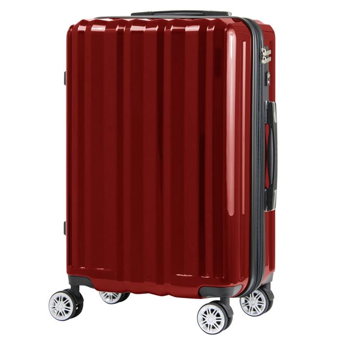 【直送便】【送料無料!】LEGEND WALKER 5102-49 37(44(拡張時))L レッド|レジェンドウォーカー スーツケース 旅行 かわいい 軽量 機内持ち込み サイズ 1泊-3泊